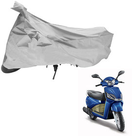 AutoRetail Two Wheeler Polyster Cover for Mahindra Gusto with Mirror Pocket (Grey Color)