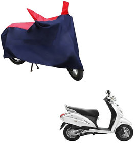 AutoRetail Water Resistant Two Wheeler Polyster Cover for Honda Activa (Mirror Pocket, Red and Blue Color)