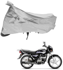 AutoRetail  Two Wheeler Polyster Cover  upto 150 CC bike (Mirror Pocket, Silver Color)