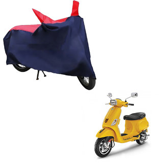 AutoRetail Water Resistant Two Wheeler Polyster Cover for Piaggio Vespa SXL 150 (Mirror Pocket, Red and Blue Color)