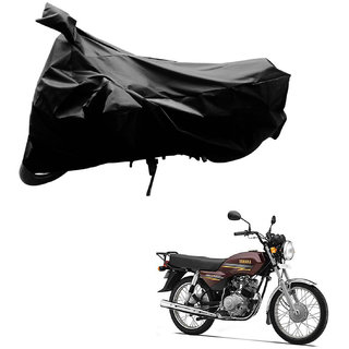 AutoRetail Water Resistant Two Wheeler Polyster Cover for Yamaha Crux (Mirror Pocket, Black Color)