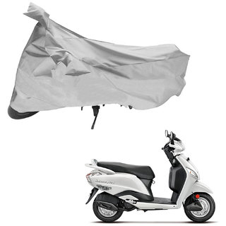 AutoRetail Custom Made Two Wheeler Polyster Cover for Hero Maestro (Mirror Pocket, Silver Color)