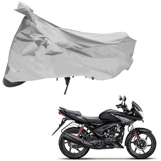 AutoRetail Two Wheeler Polyster Cover for Hero Ignitor with Sun Protection (Mirror Pocket, Grey Color)