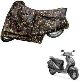 AutoRetail Weather Resistant Two Wheeler Polyster Cover for Honda Activa 3G (Mirror Pocket, Jungle Color)