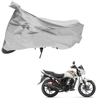 AutoRetail Weather Resistant Two Wheeler Polyster Cover for Suzuki Slingshot Plus (Mirror Pocket, Grey Color)