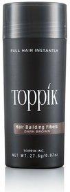 Topik-kkk Hair Building Fiber New Bottle 27.5Gm-dark brown