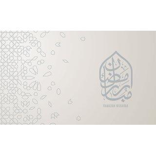 Ramdan mubarak 1 Islamic, poster 12x18 Inch by 5 Ace |Sticker Paper Poster, 12x18 Inch