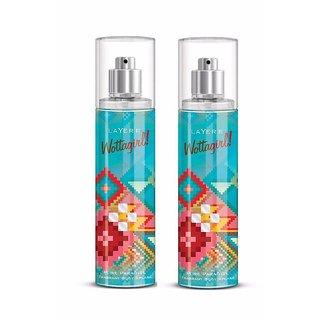 Wottagirl Pure Paradise Perfume Body Spray Pack of 2 Combo 135ML each 270ML