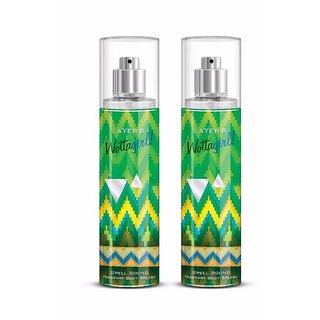 Wottagirl Spell Bound Perfume Body Spray Pack of 2 Combo 135ML each 270ML