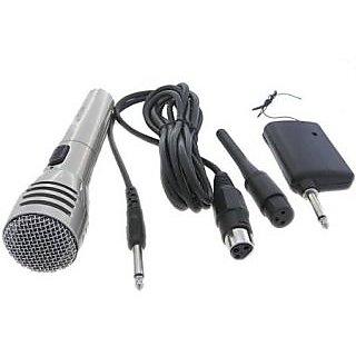 Amrit Professional WM-110 Wireless Receiver Matel Microphone