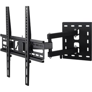 AKS Heavy Duty Single Arm Lcd Monitor Stand 26 To 55 180 Degree Rotation Led Wall Bracket Holder Full Motion TV Mount Articulating TV Mount