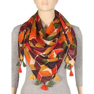 True Fashion Geometric Silk Womens Scarf