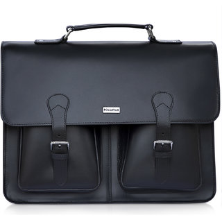 POLLSTAR Leather Laptop Bag for new MacBook 12 Macbook Pro Retina 13 and MacBook Air 11 Messenger Bag (MB9995BK)