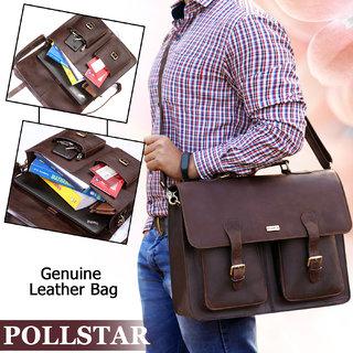 POLLSTAR Leather Laptop Bag for new MacBook 12 Macbook Pro Retina 13 and MacBook Air 11 Messenger Bag (MB9995BN)