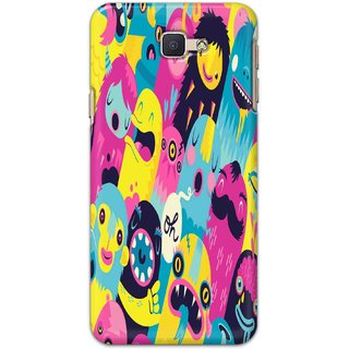 Buy Ezellohub Back Cover For Samsung Galaxy J5 Prime Colorful Monsters Illustration Desktop Wallpaper Online 219 From Shopclues