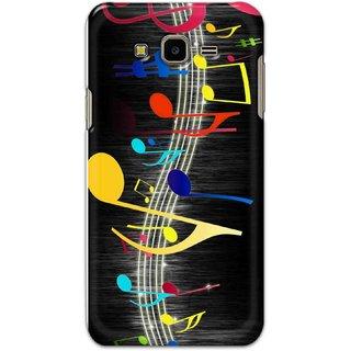 Ezellohub back cover for Samsung Galaxy J7 Nxt - music note