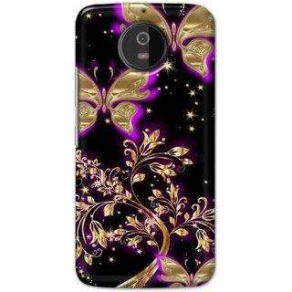 Ezellohub back cover for Motorola Moto G5S - butterfly in black background
