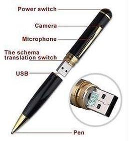 HD Spy Pen with Hidden Camera, Audio/Video Recorder, 16GB internal USB Memory