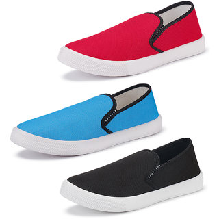 Armado Men's-Multicolor Combo pack of 3 lofer shoes
