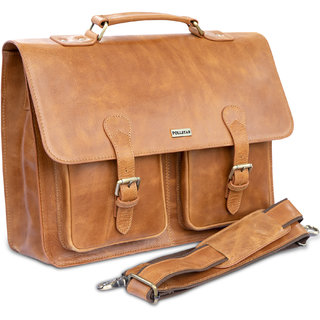 POLLSTAR Leather Laptop Bag for new MacBook 12 Macbook Pro Retina 13 and MacBook Air 11 Messenger Bag (MB9995TN)