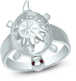 Sterling Silver Tortoise Ring 18K White Gold Fn CZ For Unisex Jewellery