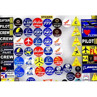 Pilot18 Air asia CREW Reflective weather-proof aviation car sticker