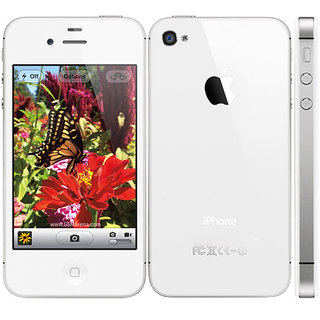 Refurbished Apple iPhone 4S 16 GB White ( 1 Year Warranty By Warranty Bazaar )