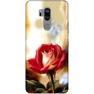 Digimate Printed Designer Hard Plastic Matte Mobile Back Case Cover For LG G7 Design No. 0096