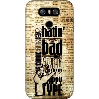 Digimate Printed Designer Hard Plastic Matte Mobile Back Case Cover For LG G6 Design No. 0560