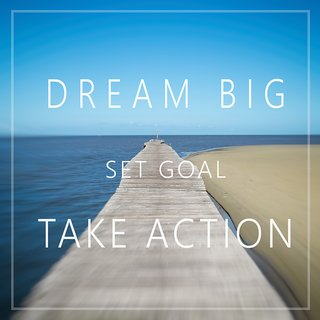 Dream big set goals WALL POSTER  OF 300 GSM (12x18 )inch WITHOUT FRAME |Sticker Paper Poster, 12x18 Inch