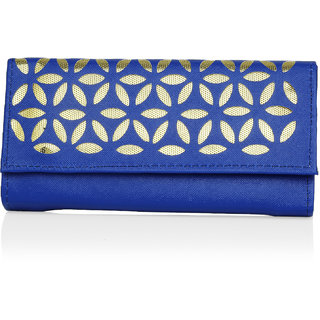 LADY QUEEN Blue Printed Clutch