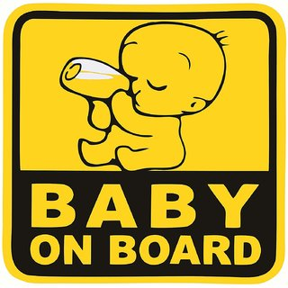 Asmi Collections Baby on Board Stickers for Car. Size - 15(W)  15(H) cm