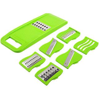 Ankur Plastic Unbreakable 6 in 1 Slicer, Green