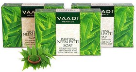 Vaadi Herbals Neem Patti Soap (Pack of 3) contains Pure Neem Leaves