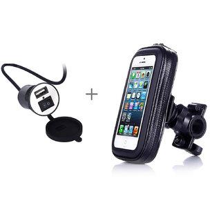Callmate Waterproof Bike Phone Mount Holder + Waterproof CellPhone Charger