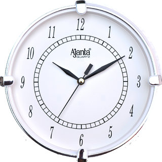 Ajanta White Round Analog Wall Clock 411w