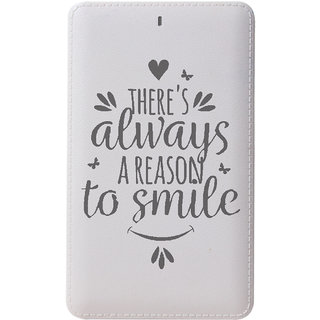 CallMate A REASON TO SMILE Power Card 5000 mAH with 1 USB Port and LED Battery Indicator