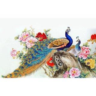 Royal Peacock Wall Sticker by Ghar Kraft