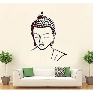 Asmi Collections PVC Wall Stickers Beautiful Brown God Buddha