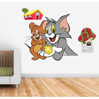 Wall Dreams Vinyl Tom and jerry Multicolor Cartoon characters  Sticker
