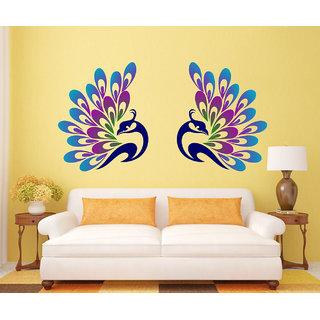 Ghar Kraft Decorative Peacock Feather Wall Sticker