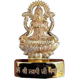 Gold Plated Laxmiji Idol
