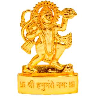 Gold plated Hanumanji Idol - 7 cms