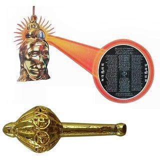 Combo Hanuman Chalisa Yantra With Free Gold Plated Hanuman Gada
