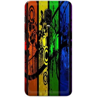 Ezellohub Back Cover For One Plus 6t  Cool Pictures Hard Printed mobile Cover