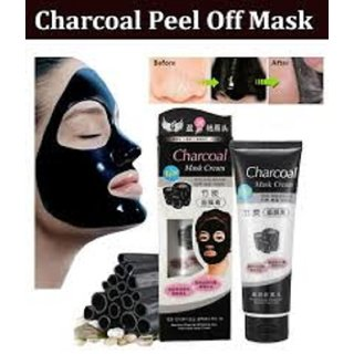 Charcoal Peel Off Mask Anti Acne Oil Control Deep Cleansing Blackhead Remover Face Masks for Men & Women, 130g