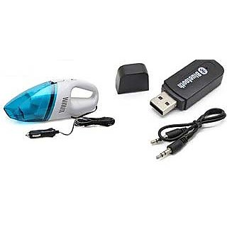 Combo of Car Bluetooth Device with Vacuum Cleaner