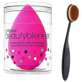 buy blushia combo of makeup tools oval brush beauty