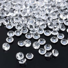 De-Ultimate (Pack Of 100 pcs) Round Crystal Gem Diamond Stone Pearl Bead For Jewellery Beading, Decorations, Arts Craft