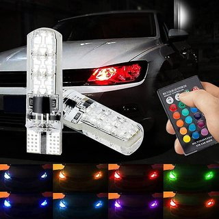 Multi Color RGB Parking Bulbs / Color Changing Parking Bulbs with Infrared Ray Remote Control